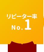 リピート率No.1